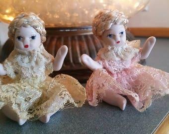 Vintage bisque dolls