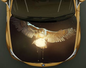 Owl Hood Etsy - Owl custom vinyl decals for car