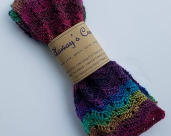 Cluster scarf, Chevron scarf, crochet scarf, women's scarf