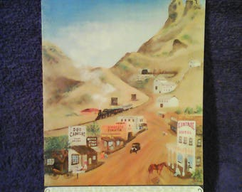 DOS CABEZAS AZ. Greeting Card, A mining town come and gone, 12 miles south of Willcox from about 1905.