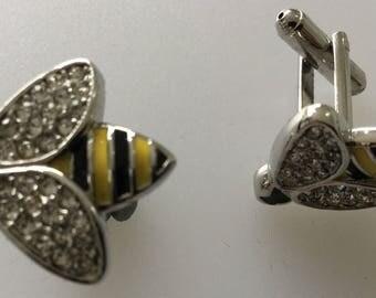 Bumble Bee Enamel Cufflink Set Boxed