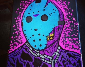 Friday The 13th pt. 7 The New Blood X NES mashup original painting 9 X 12 inches