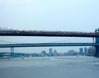 Tilt Shift NYC Bridge Print