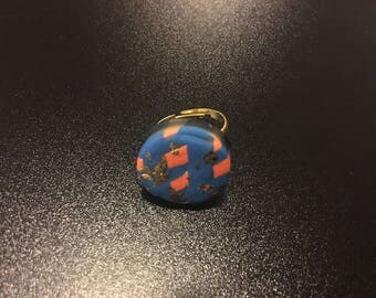 Clay gold fashion ring