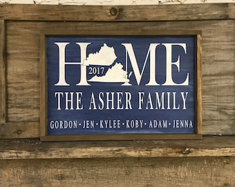 Personalized Home Sign