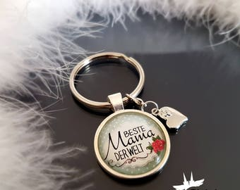 Keychains/mother's gift / mother Keychain / best MOM in the world / mother birthday gift
