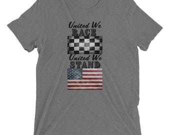 United We Race United We Stand Short sleeve t-shirt