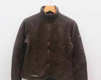 Vintage COLUMBIA Outdoors Sportswear Titanium Hiking Brown Jacket Size M