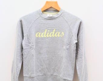 Vintage ADIDAS Triline Big Spell Sportswear Gray Sweater Sweatshirts