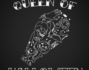 Queen of Halloween decal