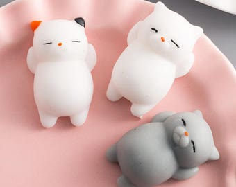 Cute Overload 3D Animals Squishy Cat Bear Seal Chicken Phone Cases For iphone 6 6s Plus 7 Plus  - DF01
