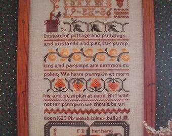 The Pumpkin Sampler - Eileen Bennett- OOP