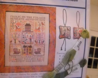 Frolic in the Foliage - Blue Ribbon Designs - Free Floss included!