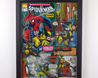 "Spider-Man #12 with Wolverine - ""Perceptions, Part 5"" (1991) - 3-D Comic Collage"