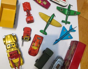 1970s matchbox diecast cars, airplanes  by Lesney made in England  1970'S lot of 15  toys from 1969-1976