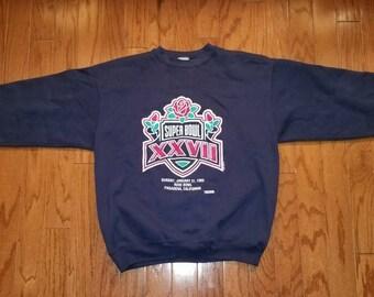 Vintage Super Bowl XXVII navy blue sweatshirt. XL