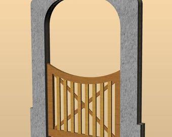 Wooden kit – gate for garden fence for dollshouse in 1:12 scale - accessories for dolls, dollshouse miniature, garden in miniature