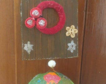 "Merry Christmas Door Hanger,Good Vibes Door Hanger,Front Door Spiritual Door Hanger,Door Decorations,Door Sign,Unique Gift,"" FREE SHIPPING"""