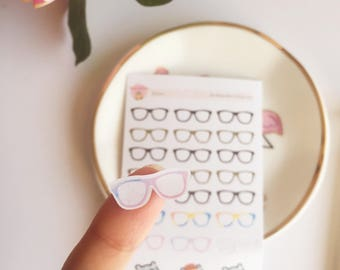 Tiny Small Little Glasses Stickers • Dot Stickers • Checklist Stickers • Reading Stickers • Functional Stickers • Study Stickers • Spectacle