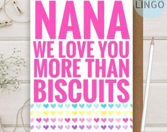 Personalised Nana   Grandma Birthday Greeting Card By Flamingo Lingo (b118a)