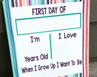 """Back to School or Camp Board-Dry Erase 10.6"""" x 11.9"""""""