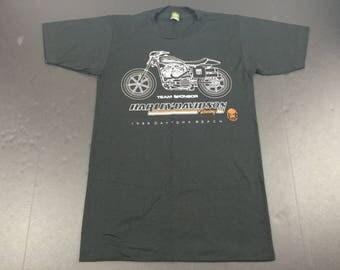 DEADSTOCK Vintage 1985 Harley Davidson XR750 motorcycle flat track racing t-shirt mens S