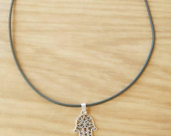 Necklace with hand of Fatima, Hamsa hand