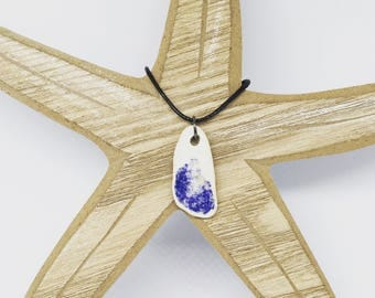 Sea Pottery Pendant from Tenby Wales UK