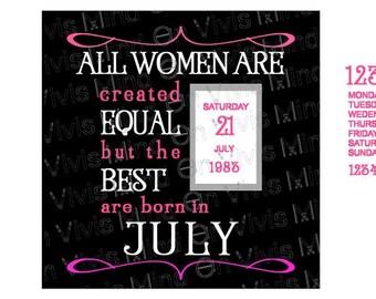 Best women are born in July