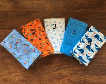SELECT YOUR OWN Set of burp cloths, Diaper style burp cloth, burp cloth, flannel burp cloth, boy burp cloth, Baby burp, Baby Branch Boutique