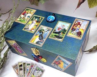 Druid Box, Tarot Box, Stash Box, Altar, Spell Box, Mini Tarot, Pagan Box, Celtic Tarot, Ritual Box, Tarot Cards, Magic Box, Witch, Wizard