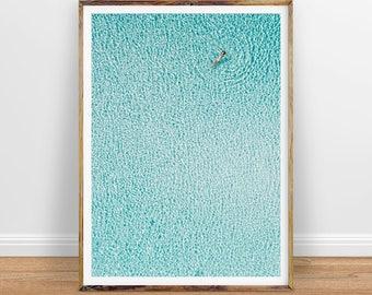 Aerial Ocean Print, Aerial Beach Photography, Ocean Art, Printable Poster, Printable Wall Art, Digital Print, Digital Download
