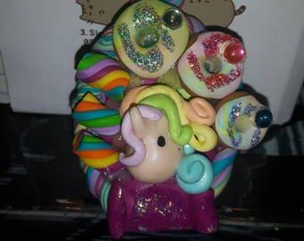 Unicorno arcobaleno kawaii