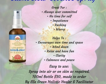 Calm & Clear Essence Mist with Pure Essential Oils for Aromatic Relaxation 100mls