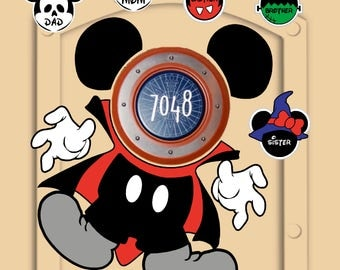 Disney Cruise Dracula Door Magnets (not paper) Mickey Mouse pieces with personal little Mickeys