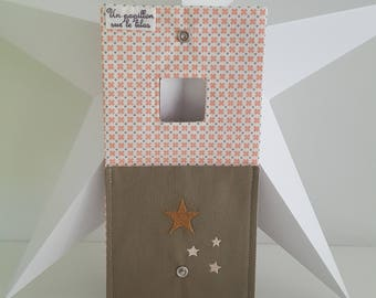 Blush Pink and beige phone charger pouch