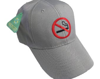 No Smoking Embroidered 6-Panel Cap
