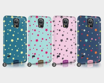 Stars Sky Colourful Phone Case For Samsung 3D Full Wrap Hard Cover Gift Colours Bright Colours Fashion Trendy Cute