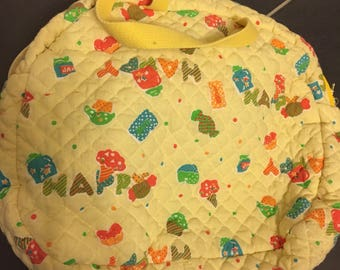 Vintage quilted kawaii purse