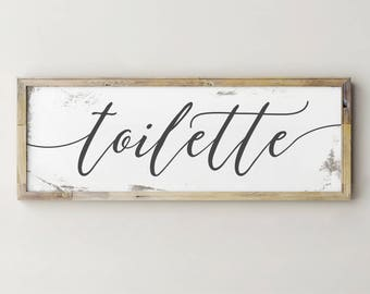 Printable Toilette Sign, French Toilet Sign, Bathroom Wall Decor, Bathroom Sign, Bathroom Decor, Farmhouse Decor, Farmhouse Sign, Fixerupper