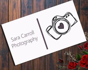 Business card template | Photography marketing | Photography business |Photography logo | photography branding | psd  | instant download