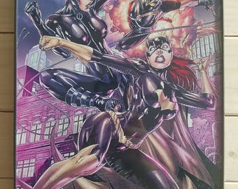 DC Comic Batgirl/Catwoman Signed Print