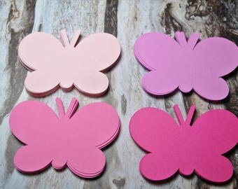 Butterfly Die Cuts Set of 60 Pink