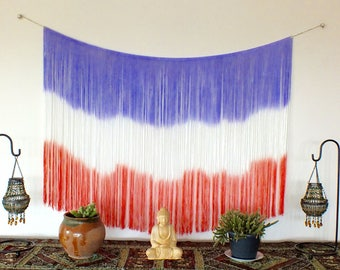 Fringe wall hanging, fringe tapestry, fringe decor, fringe wall decor, wall decor, fringe wall art, fringe wall tapestry, fringe, boho decor