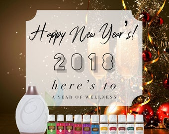 Young Living Essential Oils New Years Graphics Flyer Business Tools