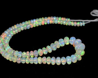 AAA Quality Natural ETHIOPIAN OPAL Rondelle Plain Beads / 4.5-12.0 mm /17 inch / Big Size