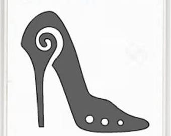 High Heel Vinyl Sticker