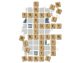 T-SHIRT: Traveling Wilburys / Travel Scrabble - Classic T-Shirt & Ladies Fitted Tee - (LazyCarrot)