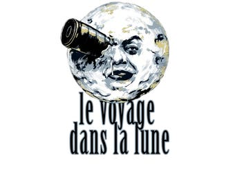 T-SHIRT: Le Voyage Lans La Lune / The Trip To The Moon - Classic T-Shirt & Ladies Fitted Tee - (LazyCarrot)