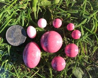 Mauve and Light pink Cabochon Gems